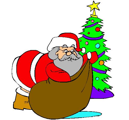 Dibujos de pap noel dibujos para ni os - Dibujos en color de navidad ...
