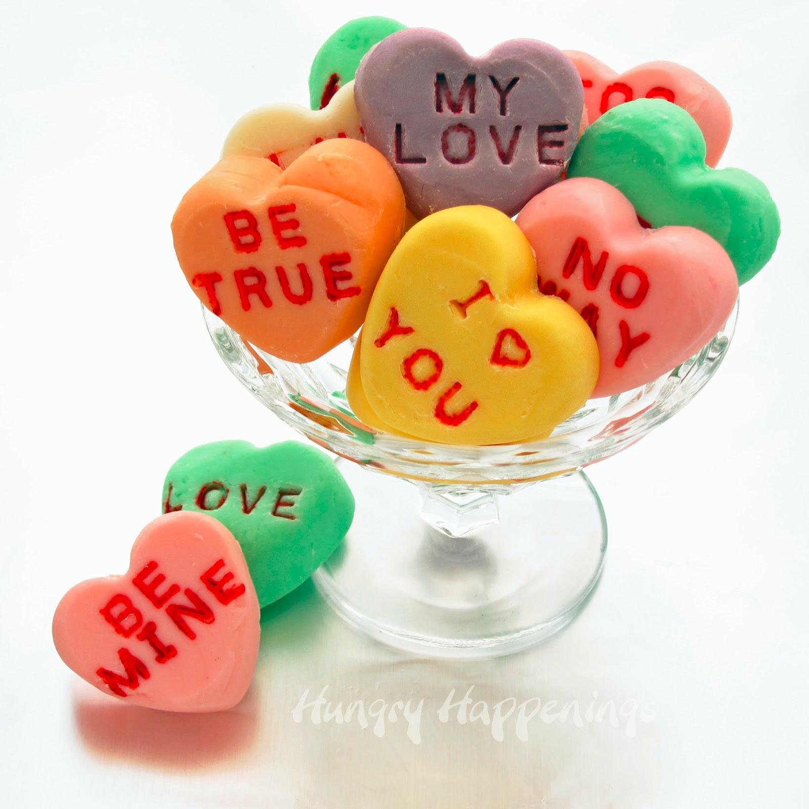 Conversation Heart Fudge - A sweet Valentine's Day Candy Recipe ...
