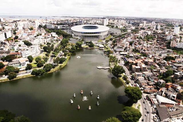 Imagens do projeto da Arena Fonte Nova, em Salvador, Bahia, o estádio será usado na Copa do Mundo de 2014
