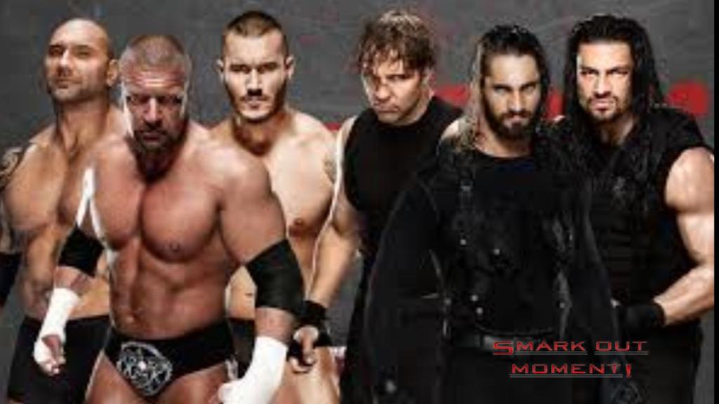Rollins Reigns Batisa Orton Triple H Payback 2014 6 Man Tag