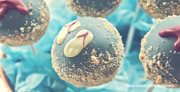 cakepops diseño verano - chanclas playeras