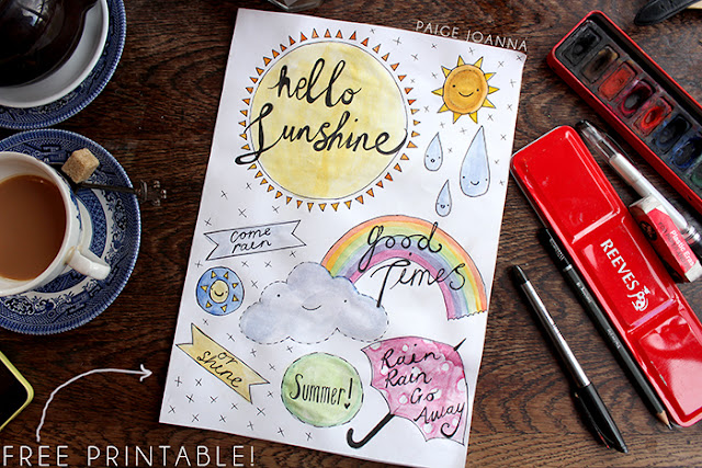 Paige Joanna Free Hello Sunshine Scrap Book Printable