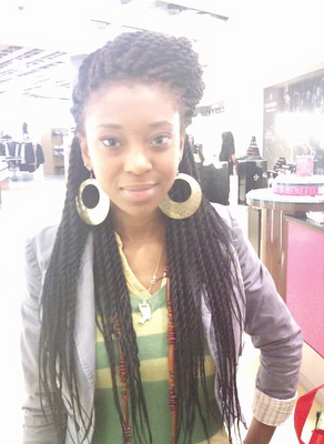 Box braids and Senegalese twists