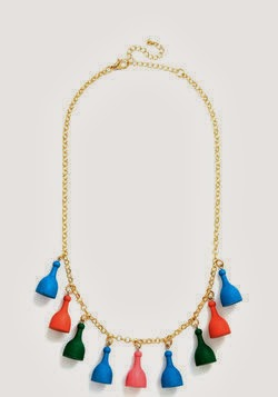 I'm game necklace, ModCloth