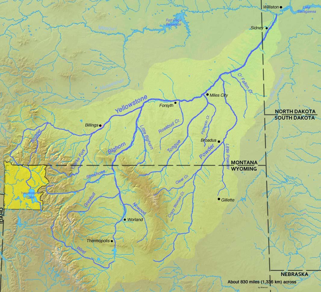Oldest National Park Yellowstone Epilogue Of Yellowstone - Yellowstone river on us map