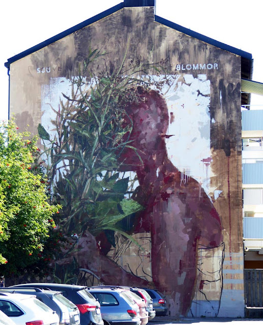 Nordic countries are booming with Street Art this summer and the latest artist to visit Northern Europe is Borondo.