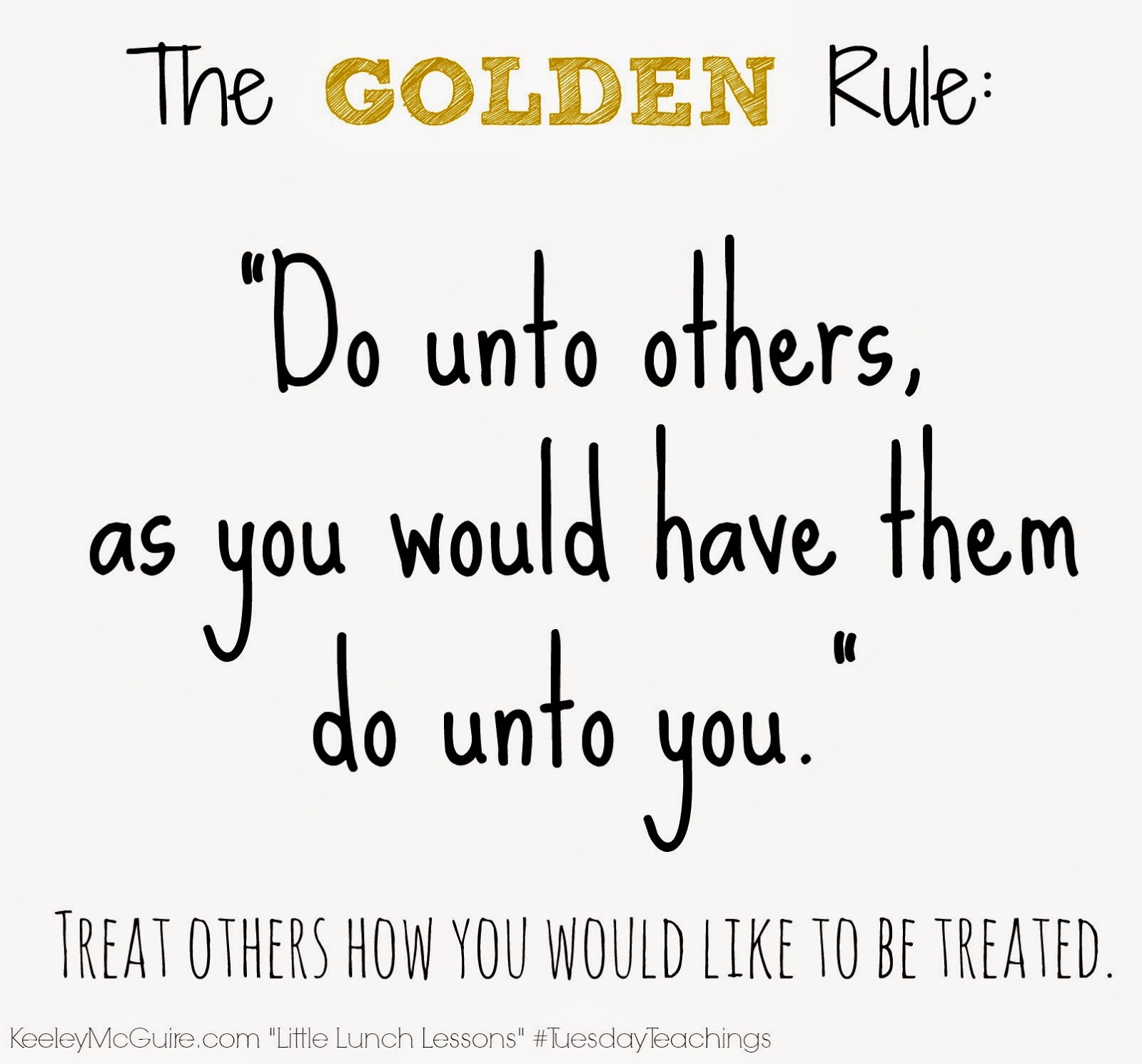 the golden rule approaching life with an The golden rules: 10 steps to world-class excellence in your life and work by bob bowman, charles butler bob bowman, best known as the coach for the record-breaking run of michael phelps, is one of the most successful coaches in sports history.