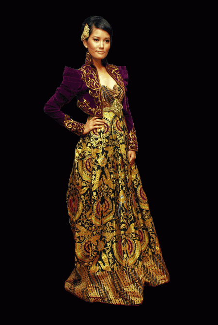 ... : Glamour with Original Modern Kebaya Indonesia Simple Lace Texture