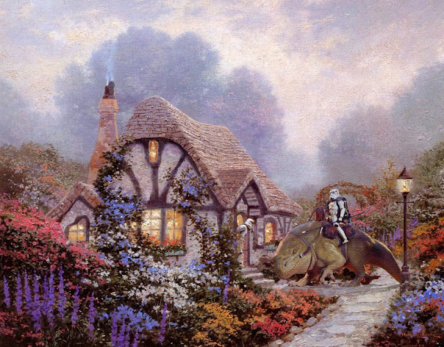 Thomas Kinkade with Star Wars