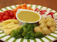 Fondue de Vegetais com Azeite Aromatizado (vegana)
