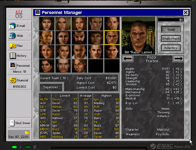 Jagged Alliance 2 - Bill Razor