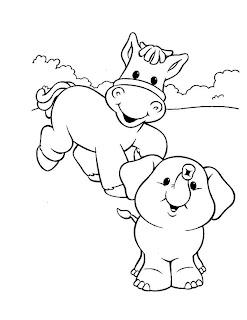 elefante e cavalo
