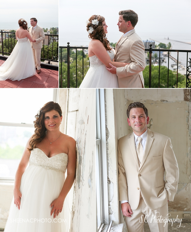 Veranda Whitcomb Beach Wedding, rooftop wedding, pregnant bride dress, saint joseph michigan