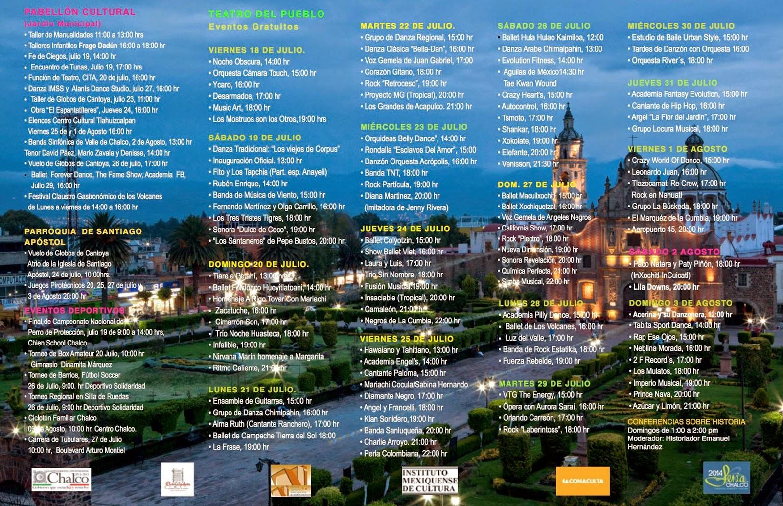 Programa Feria de Chalco 2014