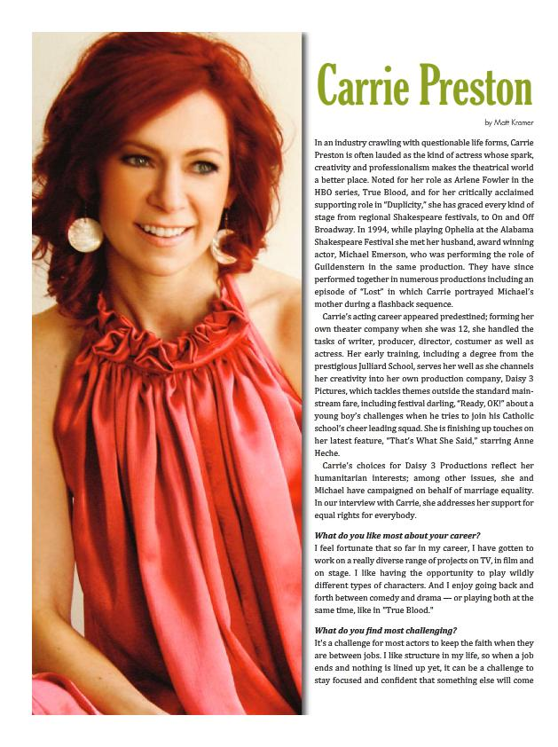 Carrie Preston From True Blood Wearing My Earrings In A Distinctive