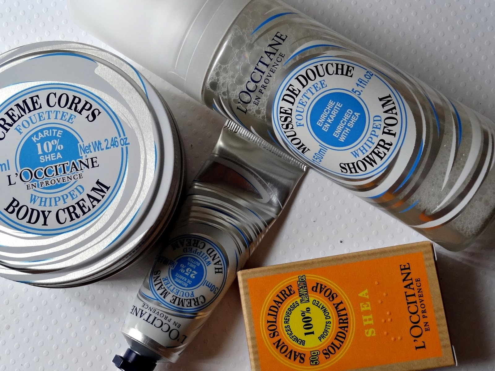 L'Occitane Shea Whipped Body Care Range and Solidarity Soap