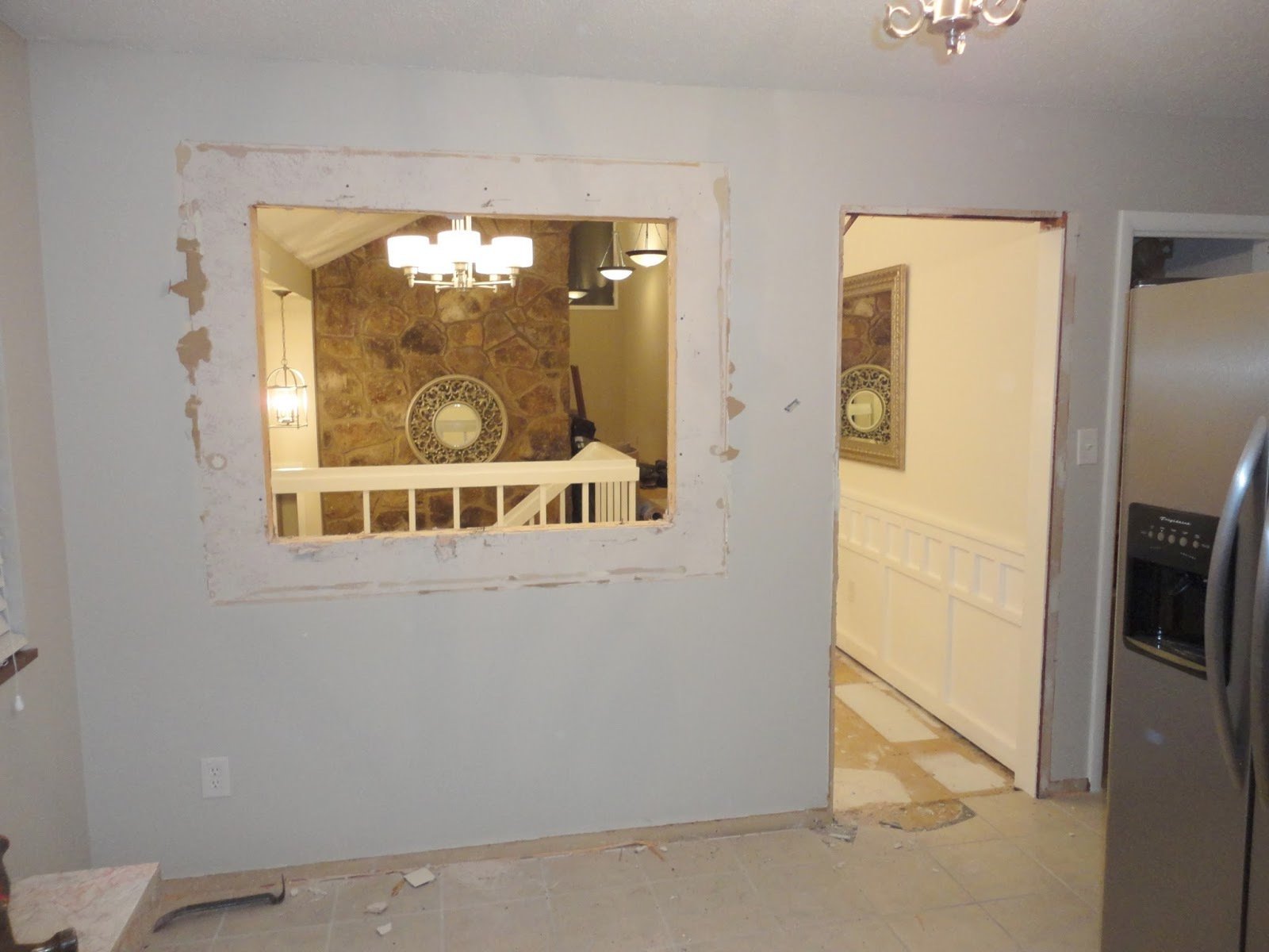 LiveLoveDIY Our 1970s House Makeover Part Two Knocking Down Walls