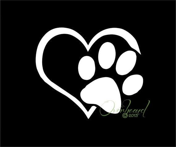 ♥ ♫ ♥ Paw with Heart I love my Dog ♥ ♫ ♥