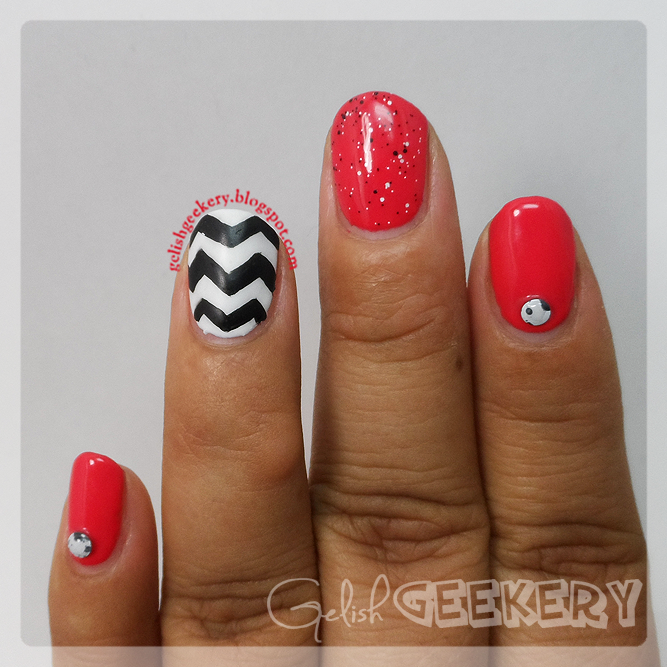 Gelish Chevron Nails