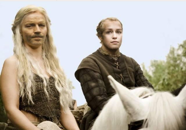 intercambio caras Jorah Daenerys - Juego de Tronos en los siete reinos