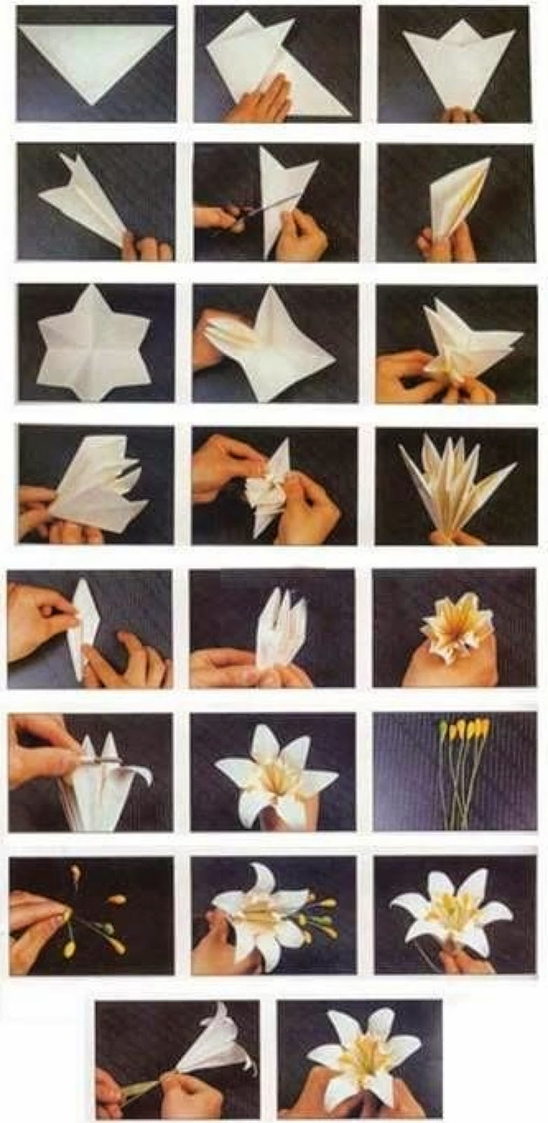 Origami Flowers Diagrams Moving Origami