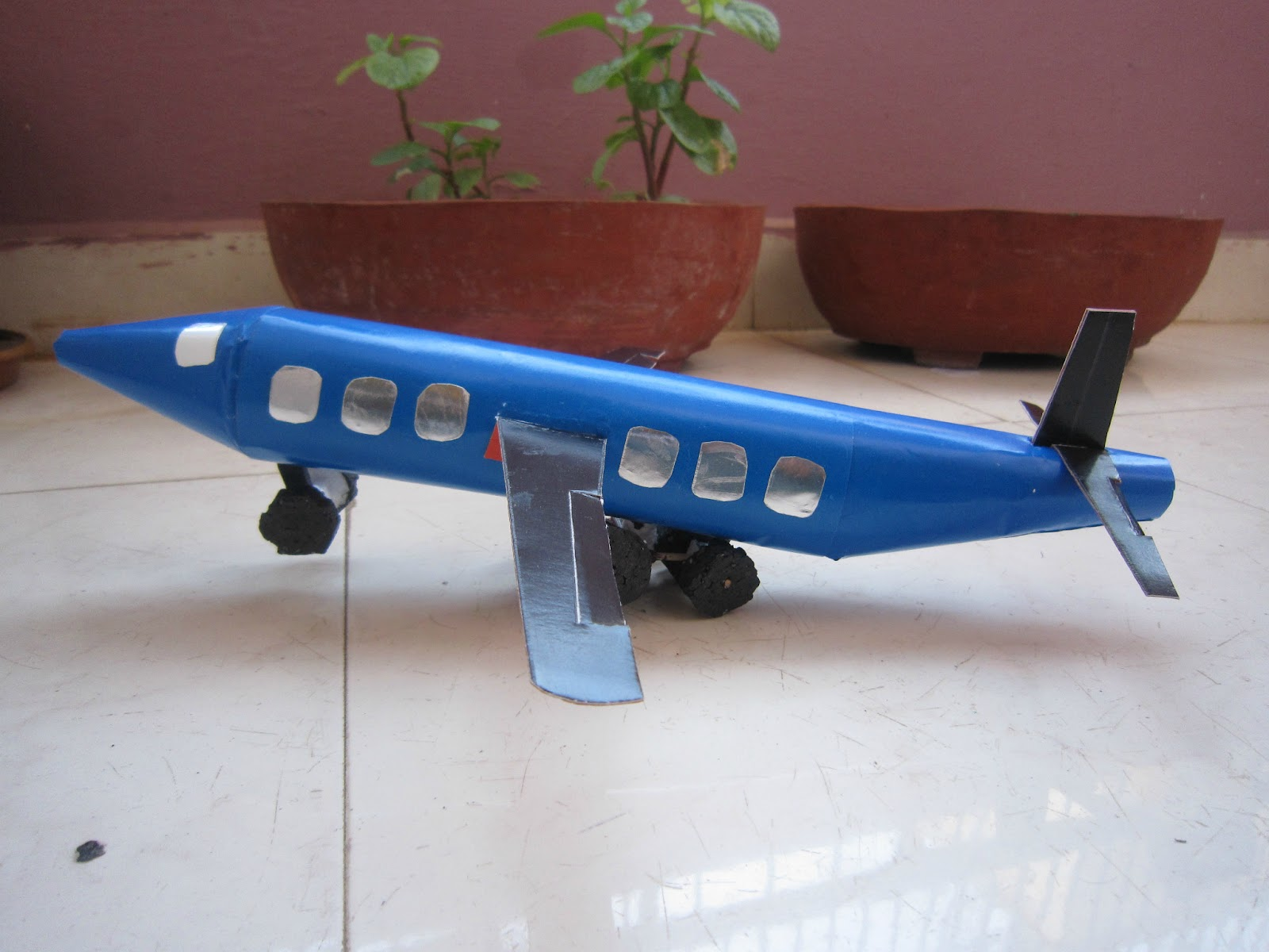 how to make aeroplane model with thermocol