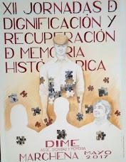 XII JORNADAS DE DIGNIFICACIÓN Y RECUPERACIÓN DE MEMORIA HISTÓRICA.  DIME. MARCHENA