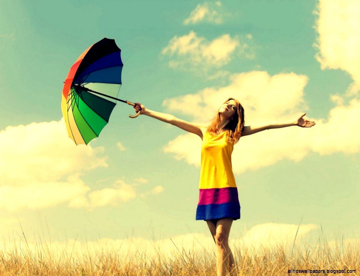 1280x960 Girl enjoy summer sun Wallpaper