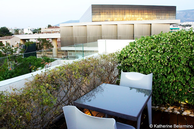 New Acropolis Museum View from Point α Bar at Herodion Hotel Athens Rooftop Bars