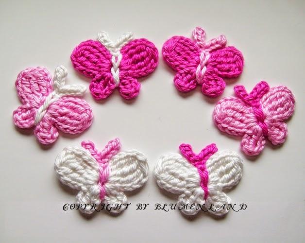 Mariposas de primavera tejidas al crochet - con patrones | Crochet