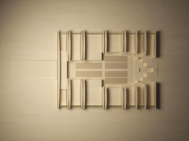 Floor plan model of new Strasbourg cathedral made in wood