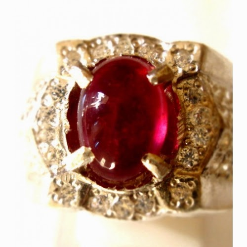 Khasiat cincin batu mustika merah delima asli