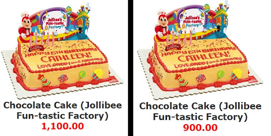 Jollibee Party price 2015 for cake