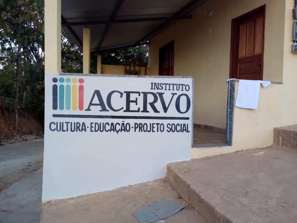 FILIAL do Instituto Acervo em Alegre, ES, conhecida no Bairro como Casa do Instituto Acervo.