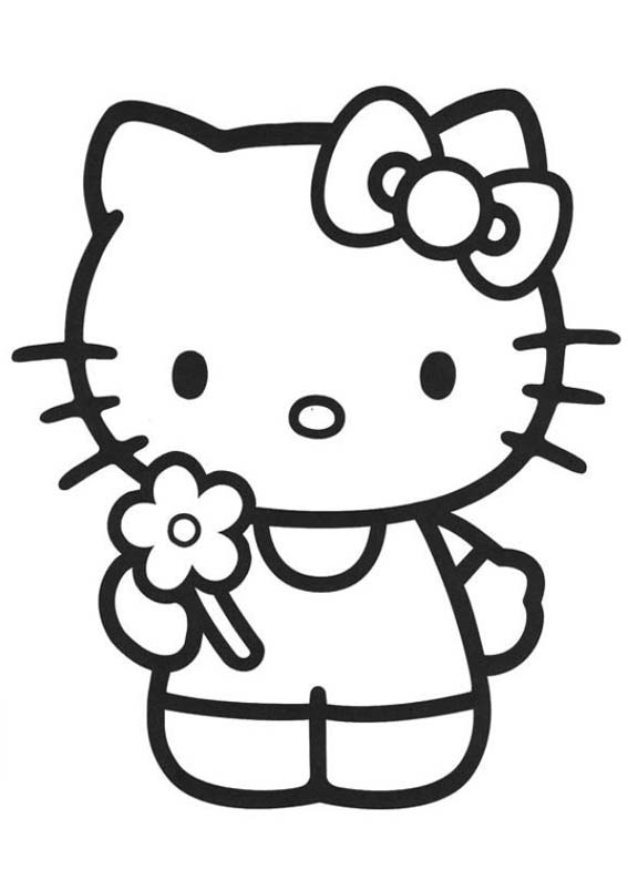 a desenhar Rabiscos da Hello Kitty colorir