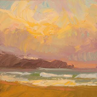 "Carole Gray-Weihman, ""Last Light on the Beach"""
