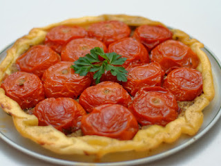 Tatin aux tomates confites