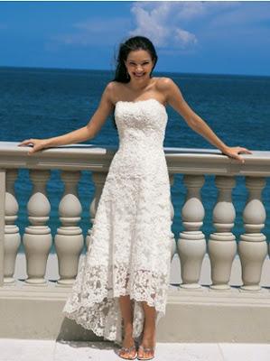 Parasol Events Beautiful Hawaiian Beach Wedding Dress
