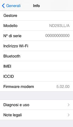 come ottenere codice imei iphone