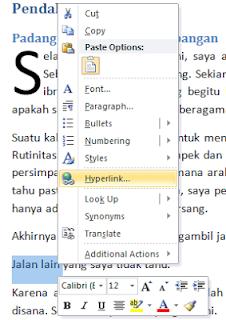 Menambahkan Hyperlink