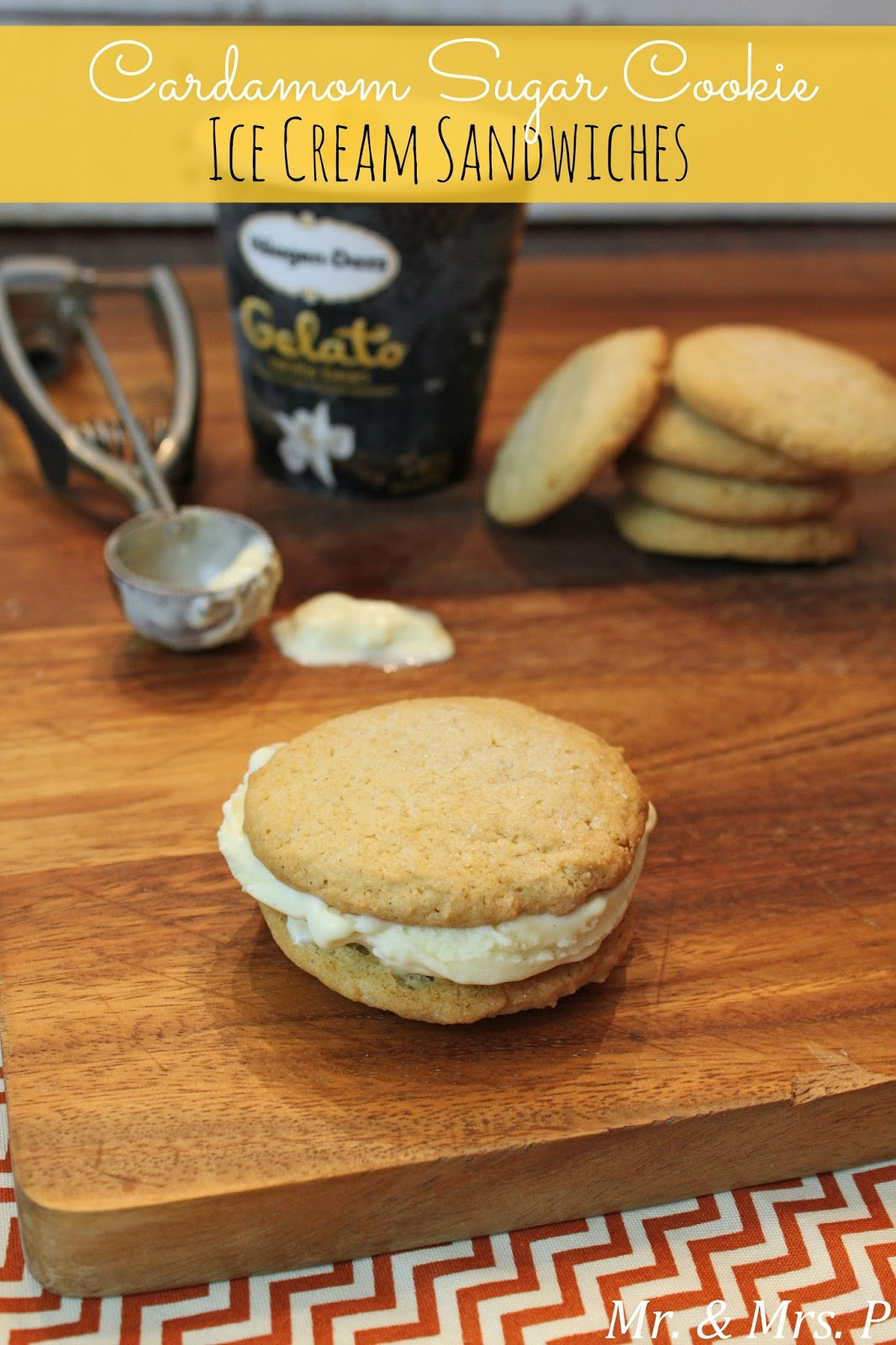 Mr. & Mrs. P: Cardamom Sugar Cookie Ice Cream Sandwiches