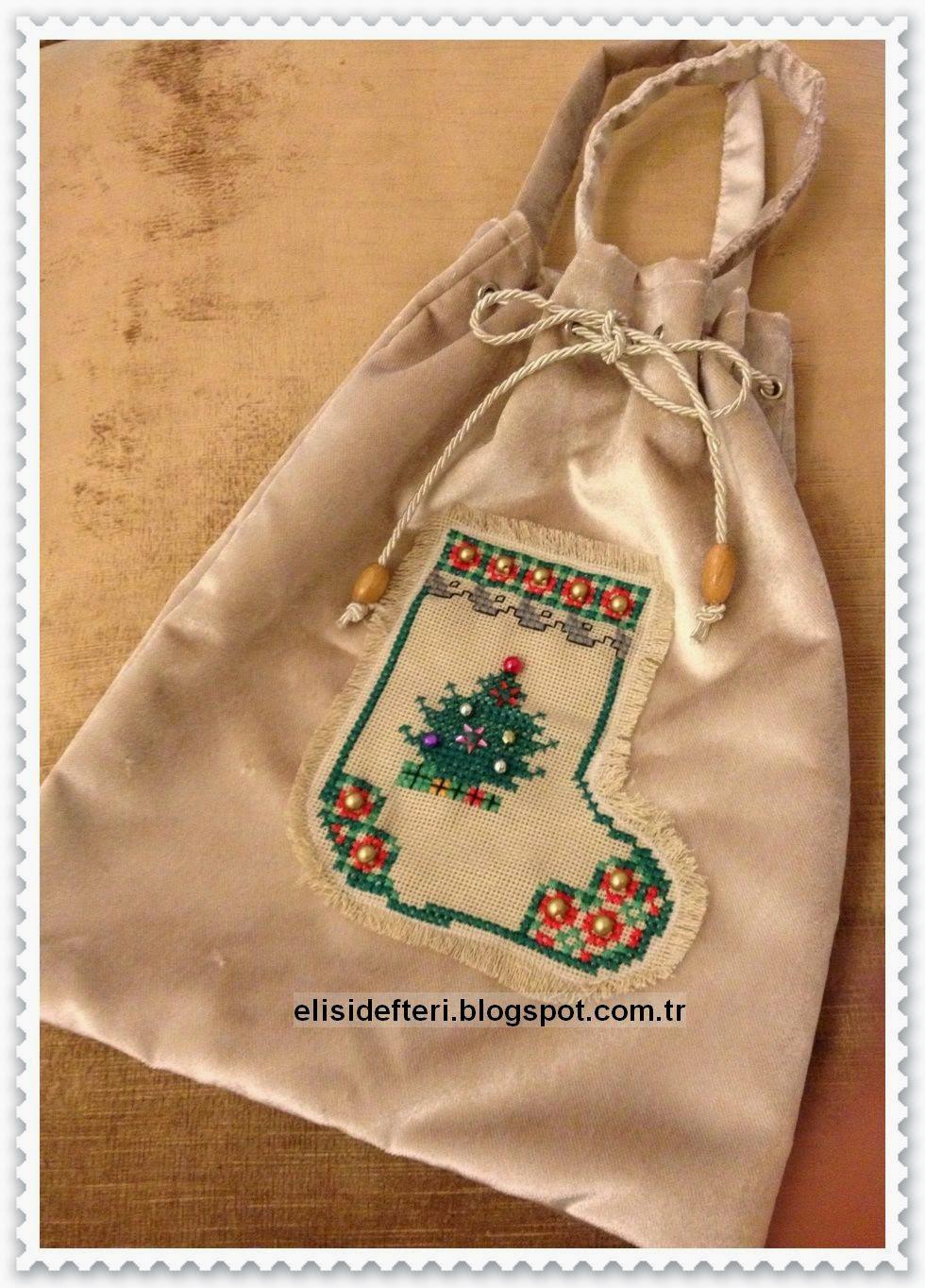 etamin işlemeli çanta