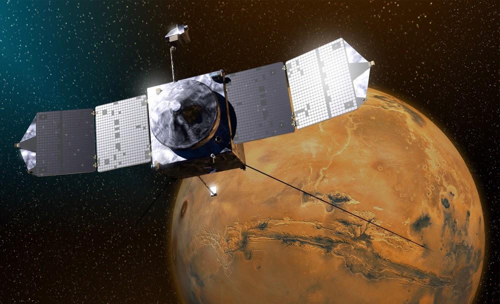 Марс готов к встрече с MAVEN (3 фото)