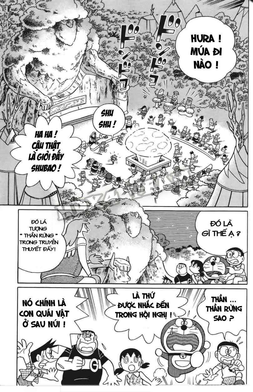 Truyện tranh Doraemon Dài Tập 25 - Nobita và truyền thuyết thần rừng trang 151