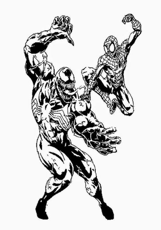 Agent Venom Coloring Pages