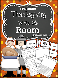 Freebie!  Thanksgiving Write the Room