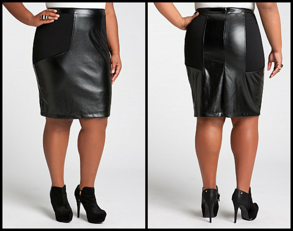 Leather Skirts for a Curvy Fall