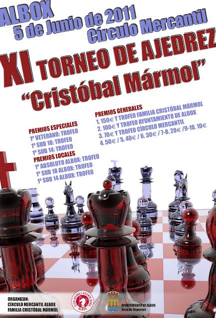 "XI TORNEO ""CRISTOBAL MÁRMOL"" DE ALBOX"