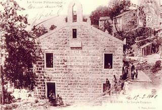 le temple protestant à Aullène en Corse du Sud