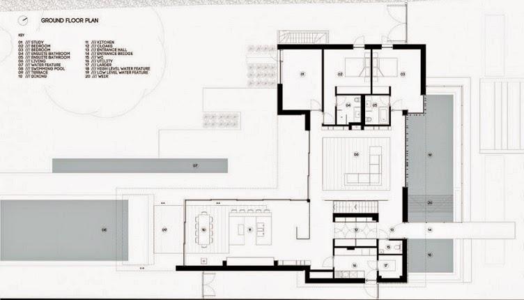 Minimalista y sostenible la casa del r o por selencky for Vivienda minimalista planos